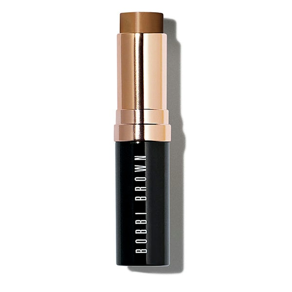 What is it: Designed to look and feel like skin, this award-winning foundation is formulated with a unique transparent base and skin tone correct pigments for the most natural-looking, skin-like finish. A Bobbi Brown original, the innovative formula features Smart Technology for targeted moisturization. Delivers medium to full coverage and comes in a convenient swivel-up stick for at home and on-the-go application. Available in 31 skin tone correct shades. From its creamy yet lightweight texture to its water, sweat and humidity-resistant wear, Skin Foundation Stick is a cult-favorite for a reason. Here\\\'s why fans love it: 96% found it mimicked the look of healthy skin tone, and 94% the look of healthy skin texture. 96% said that it left skin feeling moisturized. 97% said that it was long-wearing. 97% found that it helped even skin ton